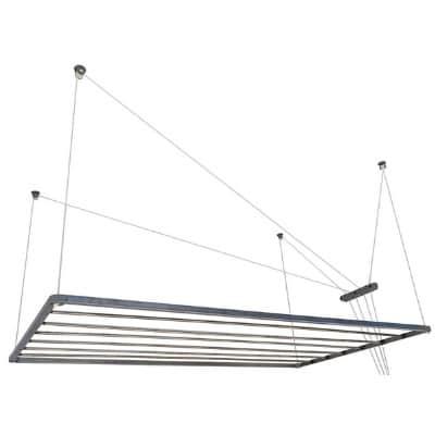 tendedero de techo con mecanismo de manivela