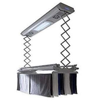 tendedero eléctrico de aluminio para el techo con ventilador