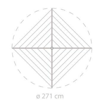 Medida total desplegado - 2,71 x 2,71 metros