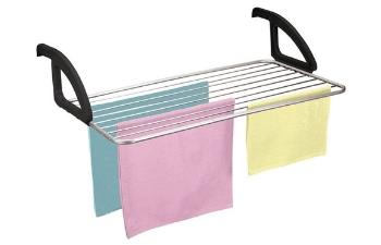 Tendedero portátil de barandilla para balcón – Metaltex Ischia