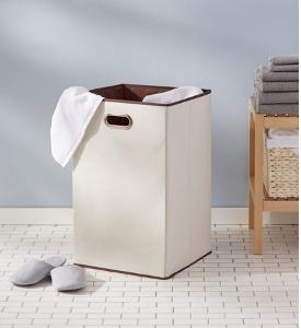 Cesto para ropa sucia plegable Amazon Basics